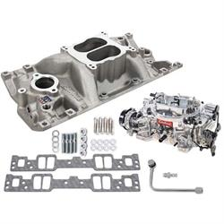 Edelbrock 2007 Performer Single-Quad Intake Manifold/Carburetor Kit