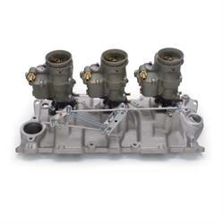 Edelbrock 2015 Vintage Intake Manifold/Carburetor Kit, Chevy