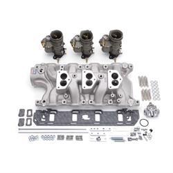 Edelbrock 2017 Vintage Intake Manifold/Carburetor Kit, Ford