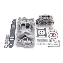 Edelbrock 2020 Single-Quad Intake Manifold/Carburetor Kit, Chevy