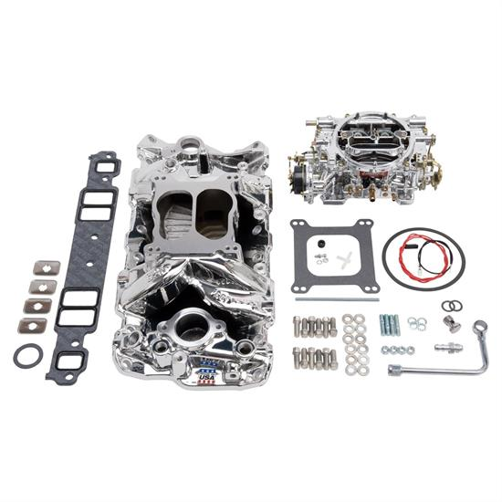 Edelbrock 20224 Air-Gap Single-Quad Intake Manifold/Carburetor Kit