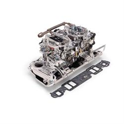 Edelbrock 20254 RPM Air-Gap Dual-Quad Intake Manifold/Carburetor Kit