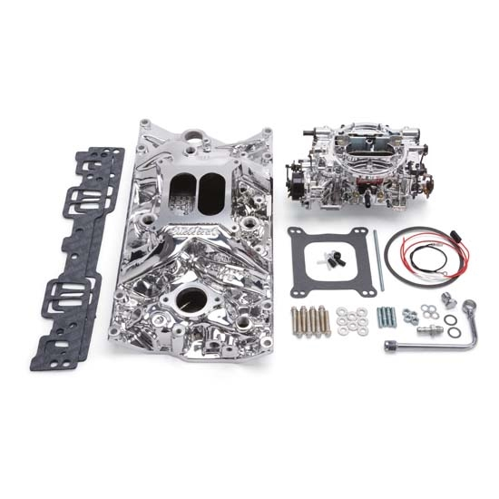 Edelbrock 20284 Performer RPM Intake Manifold/Carburetor Kit, 5.0/5.7L