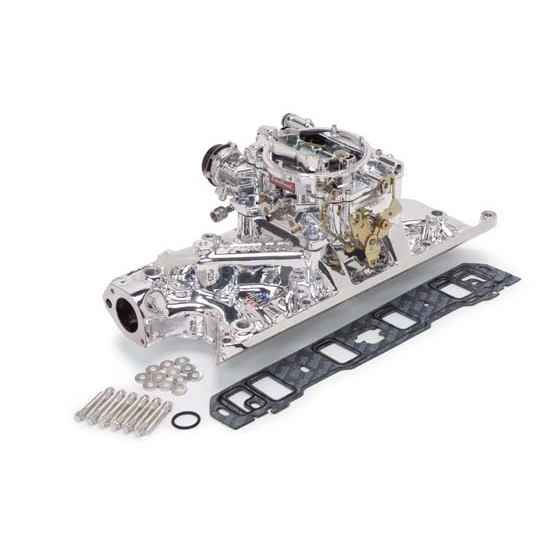Edelbrock 20314 Performer RPM Intake Manifold/Carburetor Kit, Ford