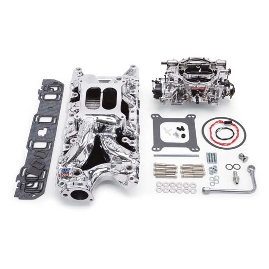 Edelbrock 20334 Performer RPM Intake Manifold/Carburetor Kit, Ford