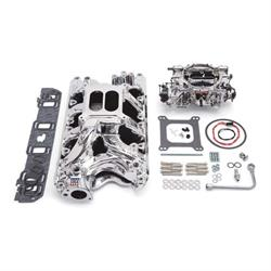 Edelbrock 20344 Performer RPM Intake Manifold/Carburetor Kit, Ford