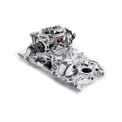 Edelbrock 2061 Single-Quad Intake Manifold/Carburetor Kit, Chevy