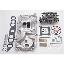 Edelbrock 2063 Single-Quad Intake Manifold/Carburetor Kit, Chevy