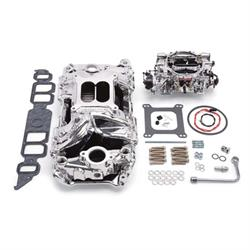 Edelbrock 20644 Performer RPM Intake Manifold/Carburetor Kit, BB Cevy