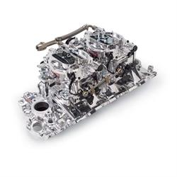 Edelbrock 20694 RPM Air-Gap Dual-Quad Intake Manifold/Carburetor Kit