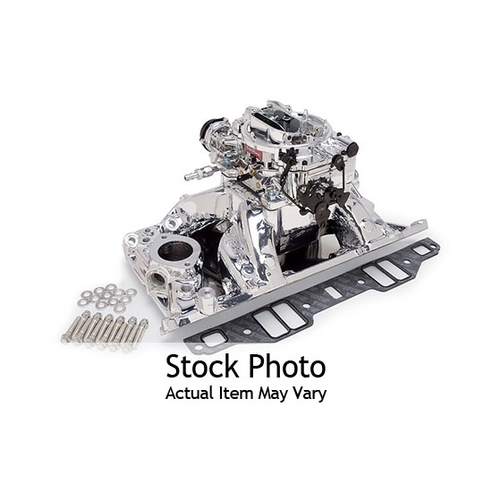 Edelbrock 2075 Single-Quad Intake Manifold/Carburetor Kit, Mopar