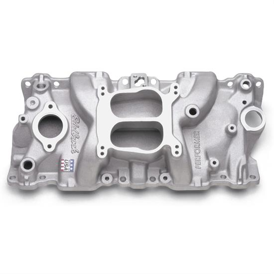 Edelbrock 2104 Performer Intake S/B Chevy, 1987-95 W/ Iron Heads