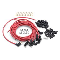 Edelbrock 22711 Max-Fire Ultra-Spark Plug Wire Set, 90 Degree, Red