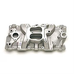 Edelbrock 37011 Performer Series Intake Manifold, Small Block Chevy
