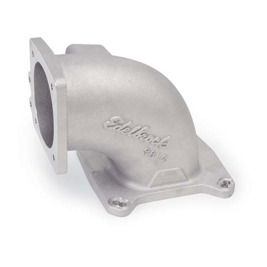 Edelbrock 3814 Throttle Body Air Intake Elbow, Aluminum, 95mm