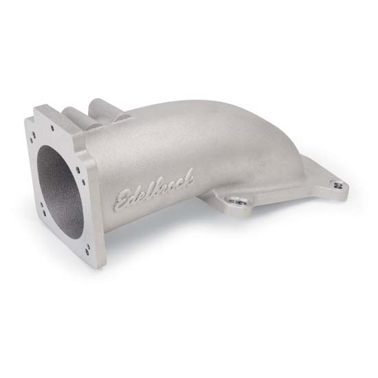 Edelbrock 3847 Intake Elbow Throttle Body Adapter, 90mm, Ford/GM