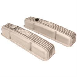 Edelbrock 41449 Valve Covers w/Oil Fill Hole, Small Block Chevy, Satin