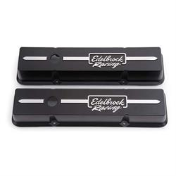Edelbrock 41633 Racing Series Valve Cover Set, Small Block Chevy