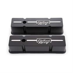 Edelbrock 41643 Racing Series Valve Cover Set, Small Block Chevy