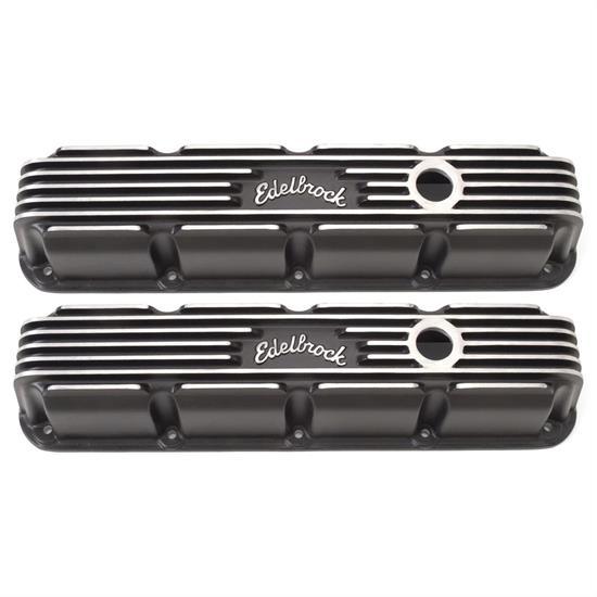 Edelbrock 41773 Classic Series Valve Cover Set Small Block, Dodge/Jeep