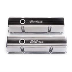 Edelbrock 4263 Elite Series Valve Cover Set, Small Block Chevy