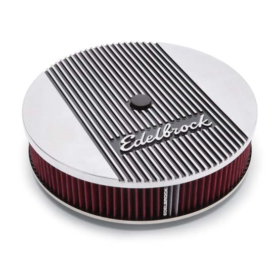 Edelbrock 4266 Elite Series Aluminum Air Cleaner, Round, 14 Inch