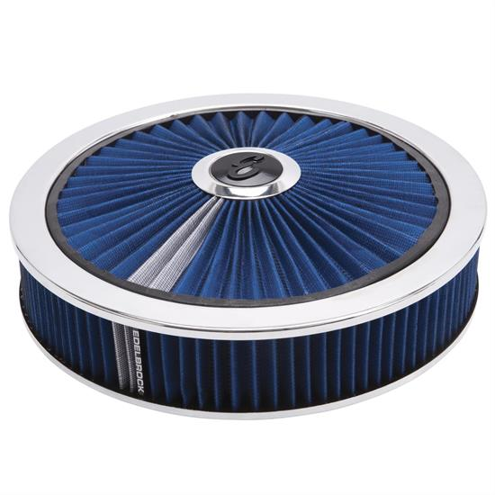 Edelbrock 43661 Pro-Flo High Flow Air Cleaner Assembly,Round,3in.,Blue
