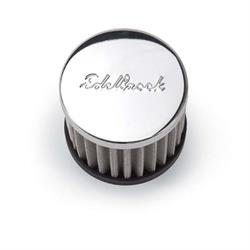 Edelbrock 4420 Circle Track Oil Breather Cap, Push In, Round