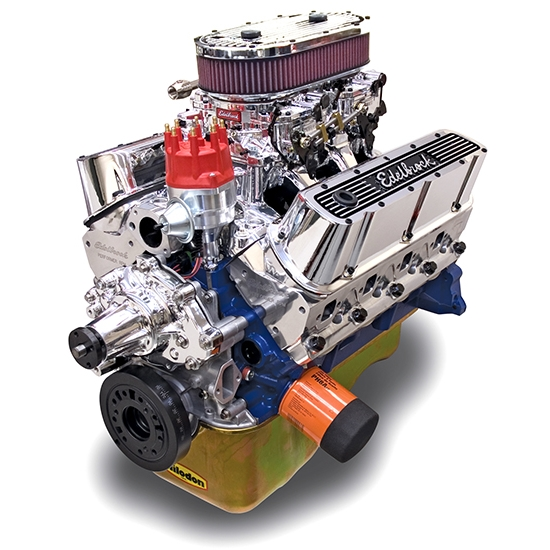 Edelbrock 45474 Performer RPM Dual Quad 9.9:1 Performance Crate Engine