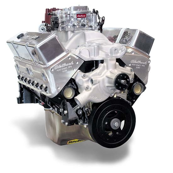 Edelbrock 45610 Performer RPM 9.5:1 Performance Crate Engine, 410 HP