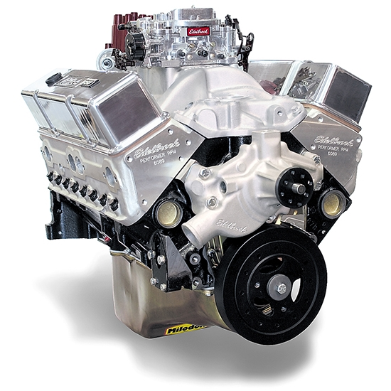 Edelbrock 45711 Performer RPM 9.5:1 Performance Crate Engine, 410 HP