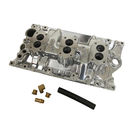Edelbrock 54171 C357-B Three-Deuce Intake Manifold, SB