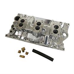 Edelbrock 54171 C357-B Three-Deuce Intake Manifold, SB Chevy, Vortec