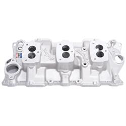 Edelbrock 5418 Small Block Chevy 3x2 3-Bolt Carb Intake Manifold