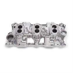 Edelbrock 54191 C357-B Three-Deuce Intake Manifold, Small Block Chevy