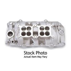 Edelbrock 54201 C-66-Dual-Quad Intake Manifold, Oval Port, BB Chevy