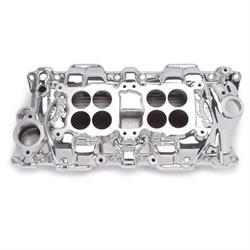 Edelbrock 54254 C-26 Dual-Quad Intake Manifold, Small Block Chevy