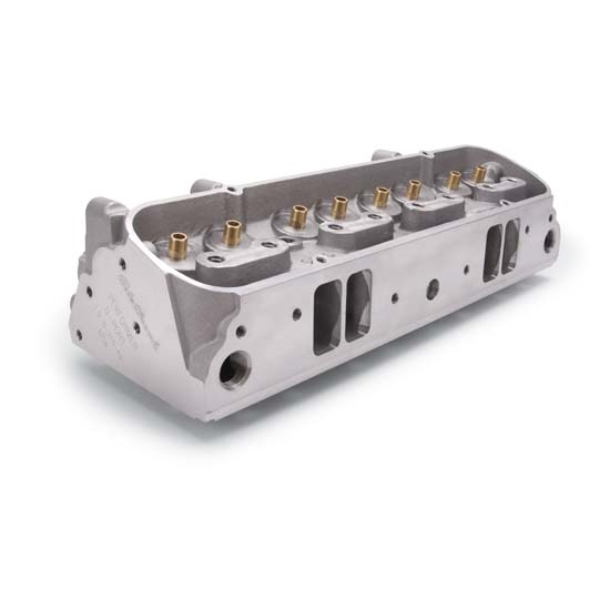 Edelbrock 61569 Performer Cylinder Head, D-Port, Bare, Pontiac