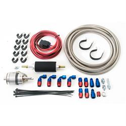 Russell 641600 LS/Hemi Complete EFI Fuel System Retrofit Kit, Red/Blue
