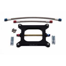 Edelbrock 70011 Performer Nitrous Oxide Plate, Aluminum, Black