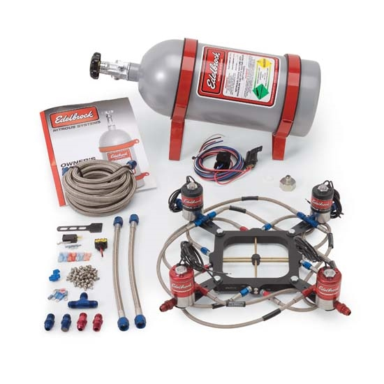 Edelbrock 70065 Victor Jr. Nitrous Oxide System, Bottle, Kit