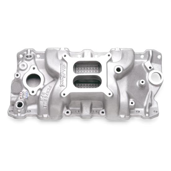 EdelBrock 2116 Performer Aluminum Intake Fits Vortec 350 SBC Chevy Dual Plane