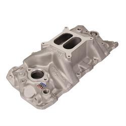 Edelbrock 7101 Performer RPM Intake Manifold, Plain Aluminum Finish