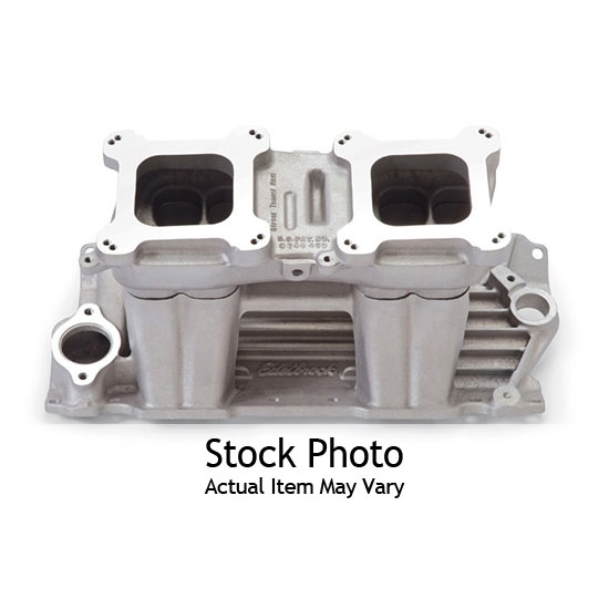 Edelbrock 71101 Street Tunnel Ram Intake Manifold, S/B Chevy, Polished