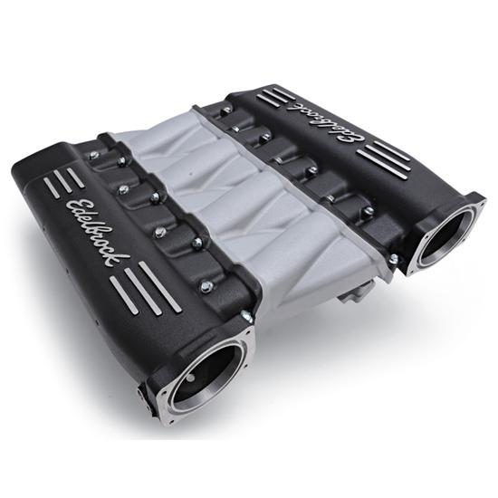 Edelbrock 71413 Cross-Ram LS3 Manifold, Black