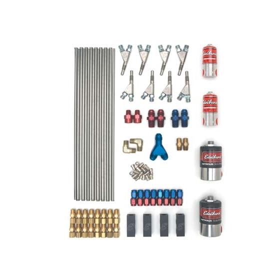 Edelbrock 71848 Super Victor Direct Port Nitrous Kit, Wet Style