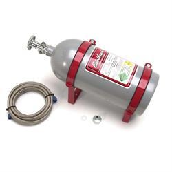 Edelbrock 72305 Nitrous Oxide Bottle, 10 pounds, Aluminum, Silver