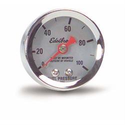 Edelbrock 73825 Nitrous System Fuel Pressure Gauge, 0-100 psi