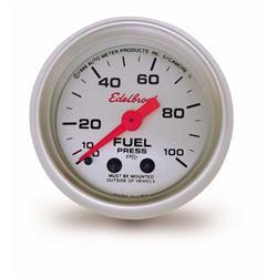 Edelbrock 73829 Nitrous System Fuel Pressure Gauge, 0-100 psi