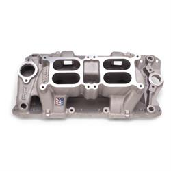 Edelbrock 7525 Performer RPM Air Gap Dual-Quad Intake Manifold, Chevy